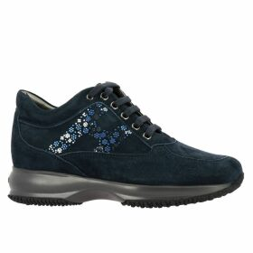 Hogan Sneakers Hogan Interactive Sneakers In Suede With Flower-shaped Micro Studs