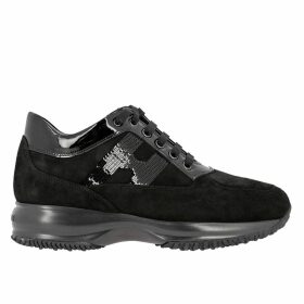 Hogan Sneakers Hogan Interactive Suede Sneakers With Sequin H