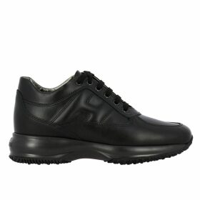 Hogan Sneakers Hogan Interactive Sneakers In Leather With Rounded H