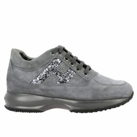 Hogan Sneakers Hogan Interactive Sneakers In Suede With H Glitter