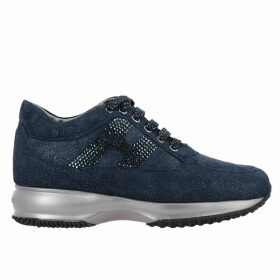 Hogan Sneakers Hogan Interactive Sneakers In Lurex Suede With H Strass