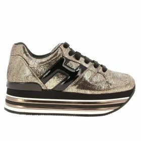 Hogan Sneakers Hogan 473 Sneakers In Laminated Leather With H In Patent Leather