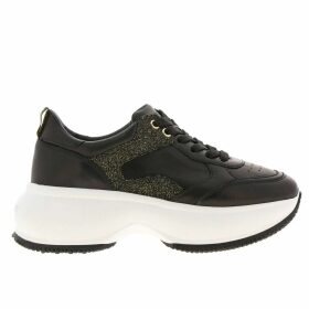 Hogan Sneakers Active One Maxi Hogan Sneakers In Smooth Leather With Lurex Details