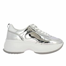 Hogan Sneakers Active One Maxi Hogan Sneakers In Mirrored Leather And Smooth Leather
