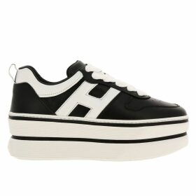 Hogan Sneakers Sneakers 449 Hogan In Leather With Rounded H And Maxi Platform Sole