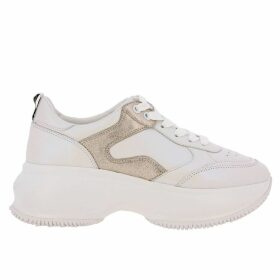 Hogan Sneakers Active One Maxi Hogan Sneakers In Smooth Leather With Laminated Details