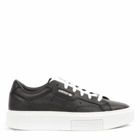 Adidas Originals Sleek Super Black Leather Sneakers