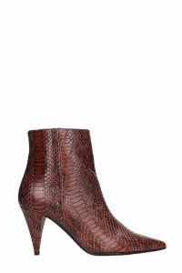 Marc Ellis High Heels Ankle Boots In Leather Color Leather