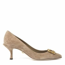 Dolce & Gabbana Sand Color Suede Pumps