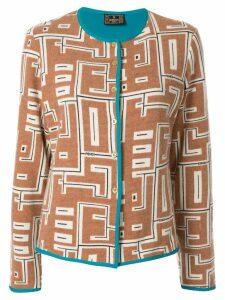 Fendi Pre-Owned graphic print cardigan - Brown