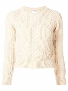 Chanel Pre-Owned cable knit sweater - White
