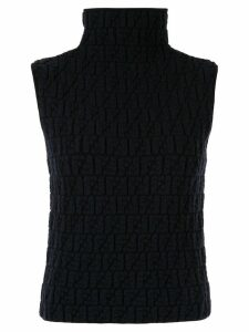 Fendi Pre-Owned embossed Zucca pattern knitted top - Black