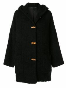 Gucci Pre-Owned Bamboo Line textured hooded coat - Black