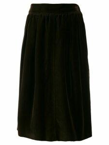 Yves Saint Laurent Pre-Owned 1970's velvet effect gathered skirt -