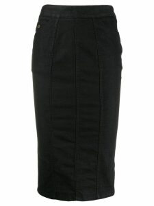 Gucci Pre-Owned 2000's denim pencil skirt - Black