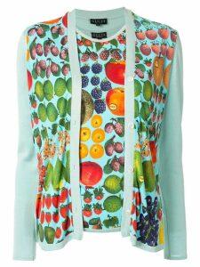 Gucci Pre-Owned fruit print T-shirt & cardigan set - Green