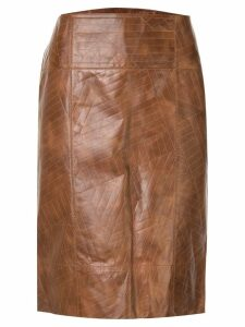 Fendi Pre-Owned Straight Skirt - Brown