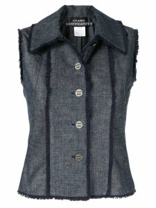 Chanel Pre-Owned sleeveless vest jacket - Blue