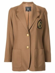 Burberry Pre-Owned badge detail jacket - Brown