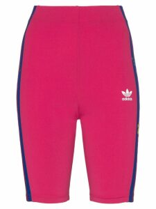 Adidas floral-embroidered cycling shorts - Pink