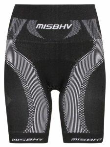 Misbhv high-waisted sport knit shorts - Black