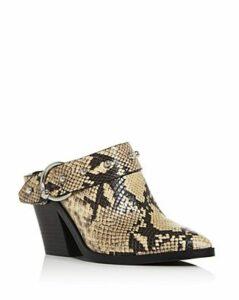 Rebecca Minkoff Women's Sallest Studded Block-Heel Mules