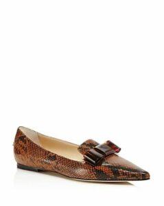 Jimmy Choo Women's Gala Pointed Toe Flats