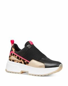 Michael Michael Kors Women's Cosmo Mixed Media Slip-On Sneakers