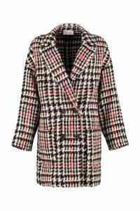 RED Valentino Virgin Wool Pied-de-poule Coat