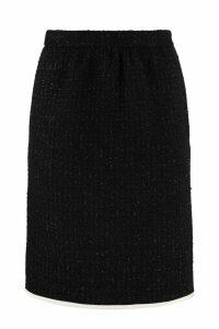 Boutique Moschino Bouclé Wool Skirt