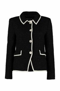 Boutique Moschino Boucle Wool Single-breasted Jacket