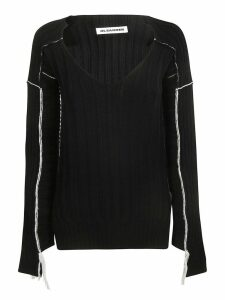 Jil Sander V-neck Knitted Sweater