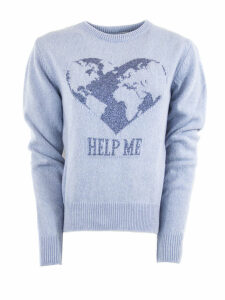 Alberta Ferretti Light Blue Cashmere Sweater