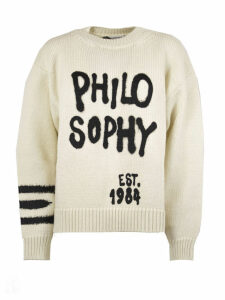 Philosophy di Lorenzo Serafini White Wool Sweater