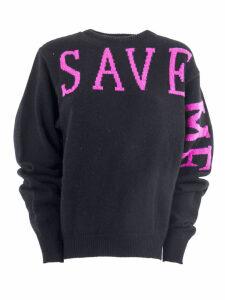 Alberta Ferretti Black Cashmere Sweater