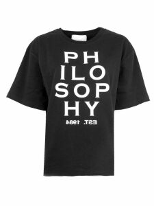 Philosophy di Lorenzo Serafini Black Cotton T-shirt