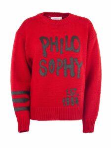 Philosophy di Lorenzo Serafini Red Wool Sweater