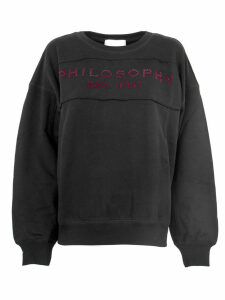 Philosophy di Lorenzo Serafini Black Cotton Sweatshirt