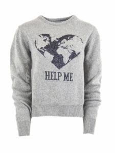 Alberta Ferretti Grey Cashmere Sweater