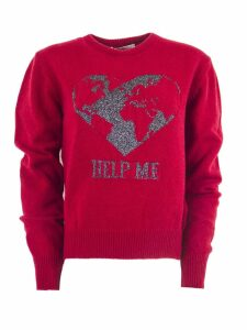 Alberta Ferretti Red Cashmere Sweater