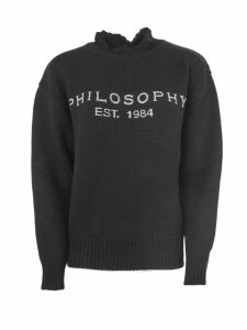 Philosophy di Lorenzo Serafini Black Wool Sweater