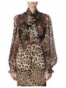 Dolce & Gabbana Leopard Blouse