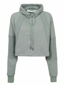 Off-White Intarsia College Hoodie Light Green Whit