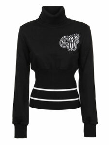 Off-White Cheerleader Ribbed Sweatshirt Black Blac