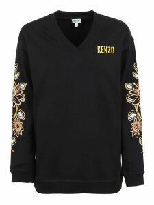 Kenzo V Neck Embroidered Sweatshirt