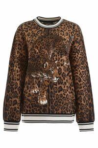 Leopard-printed Sweatshirt