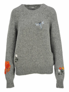 Stella Mccartney Animal And Floral Embroidered Motifs Sweater