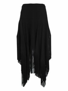 Stella Mccartney Asymmetric Fringed Skirt