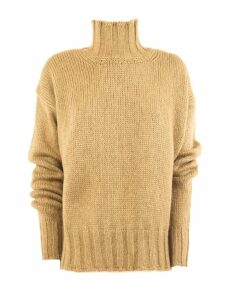 Dondup Brown Alpaca Sweater
