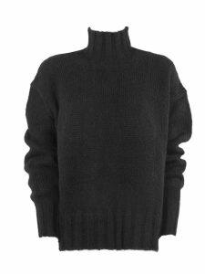 Dondup Black Alpaca Sweater